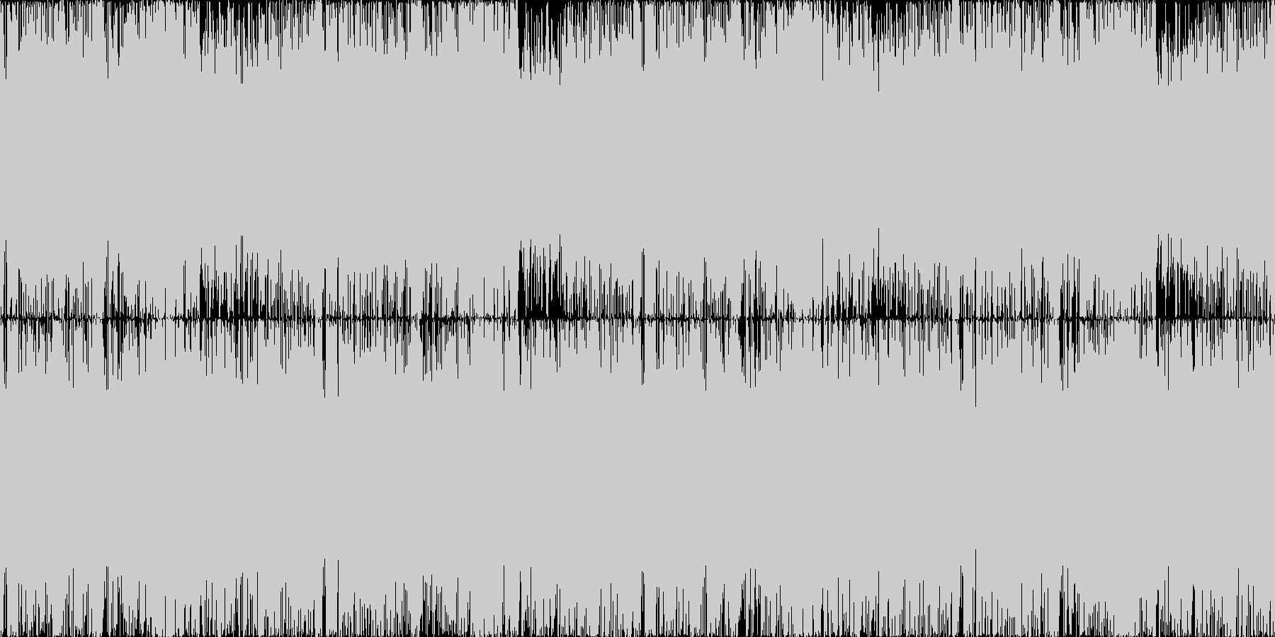 疾走感のあるテクノポップ。2ループ版の未再生の波形