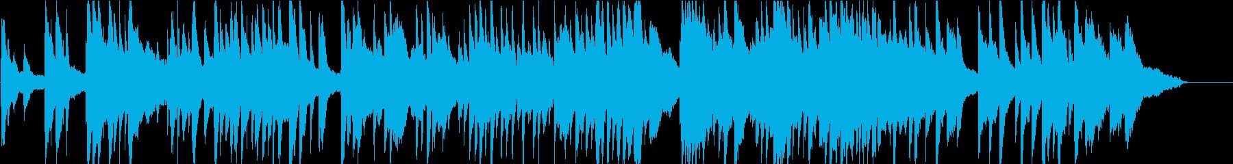 優しく落ち着く感じのピアノ曲(ショート版の再生済みの波形