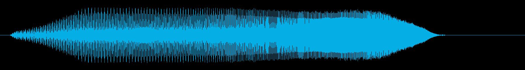 プーィ、プーィ↑、プー(コミカル電子音)の再生済みの波形