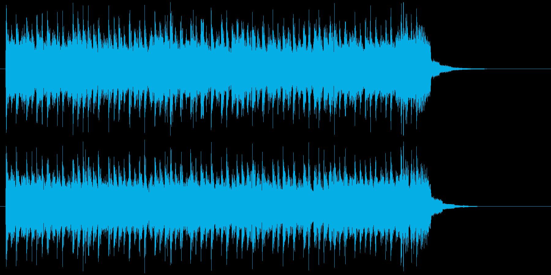 激しくかっこいい疾走感あるロックの再生済みの波形