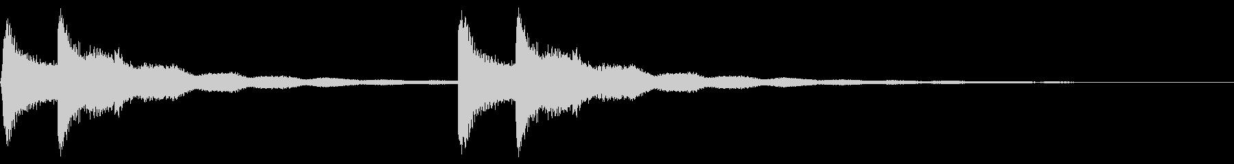 鐘の音色のピンポン~入店音~の未再生の波形