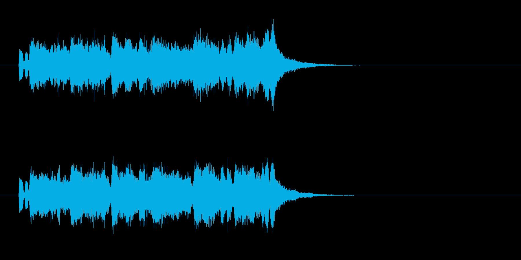 ジングル(必殺大江戸時代劇調)の再生済みの波形
