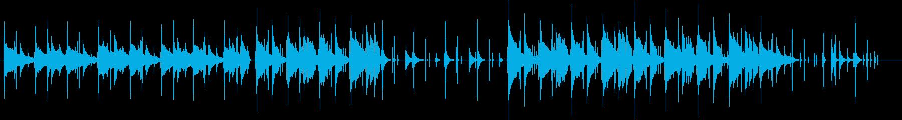 同じフレーズが繰り返される曲の再生済みの波形