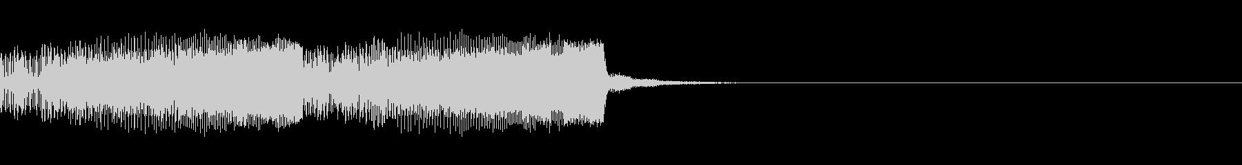 パチンコ的アイテム獲得音01B(電子音)の未再生の波形