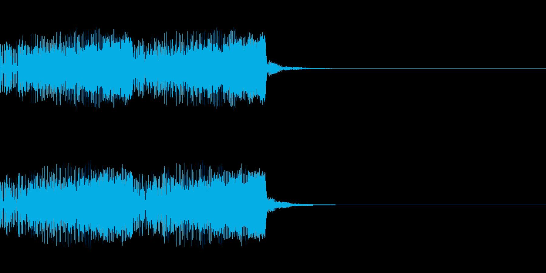 パチンコ的アイテム獲得音01B(電子音)の再生済みの波形