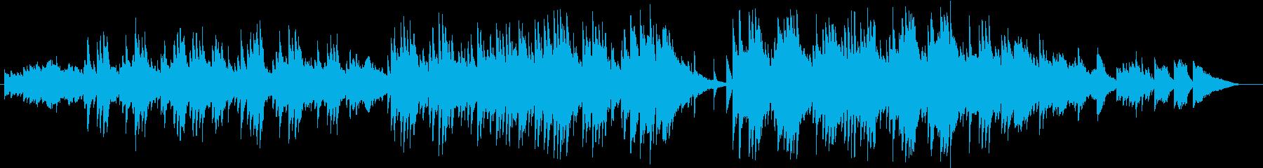 喪失感を誘うようなシリアスな曲の再生済みの波形