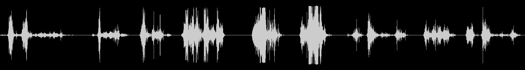 ロッキーダート9Xにボディシンクの未再生の波形