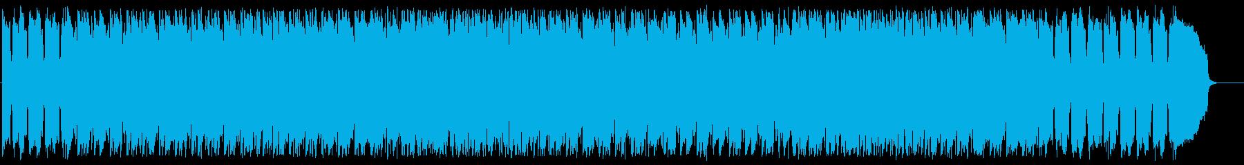 アップテンポで軽快なリズムのBGMの再生済みの波形