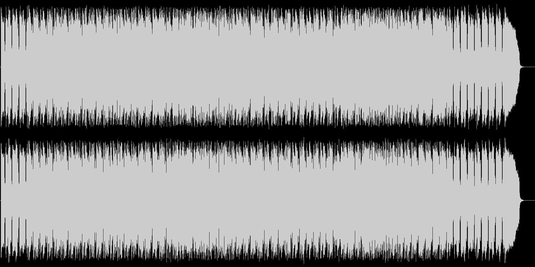 アップテンポで軽快なリズムのBGMの未再生の波形