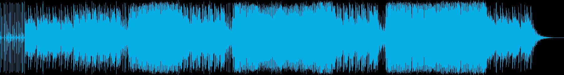 雨のイメージの悲しい曲の再生済みの波形