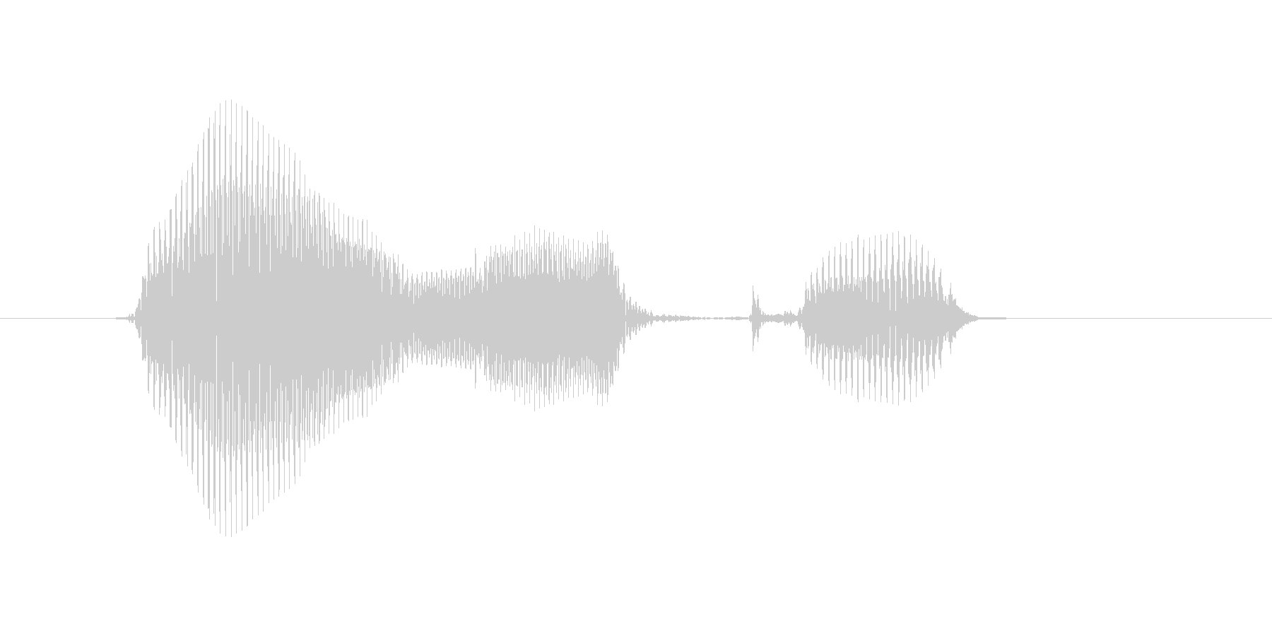 邦楽、方角の未再生の波形