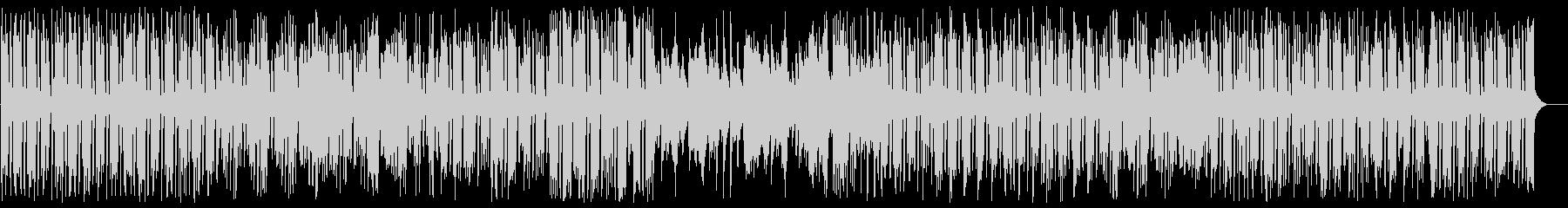 アップテンポのメロディーの綺麗なピアノの未再生の波形