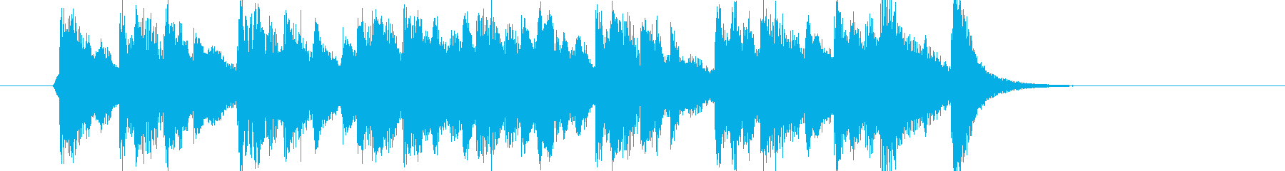 ラジオ風ジングル(1)の再生済みの波形