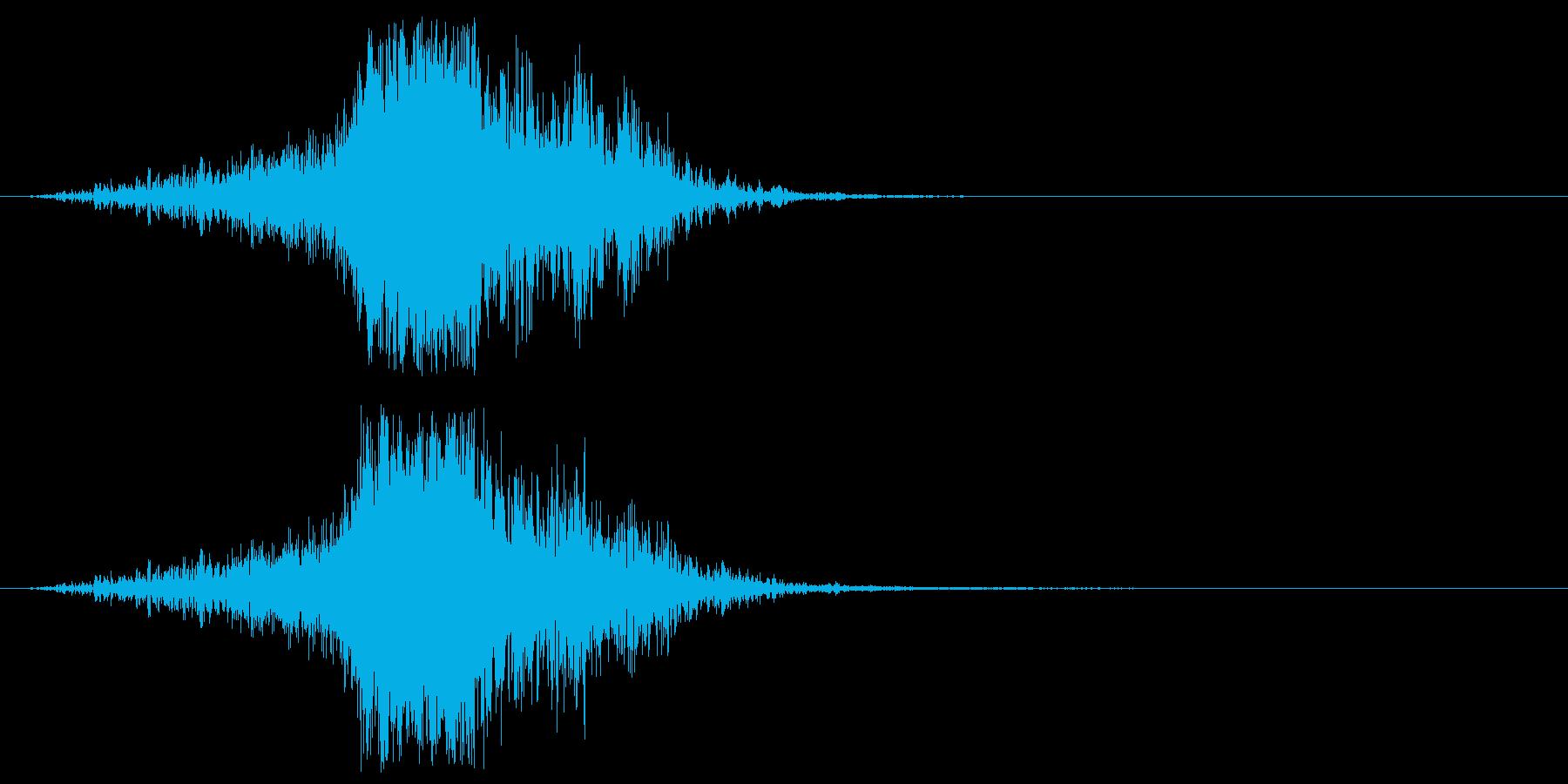 ジャキーン 必殺技 斬撃音の再生済みの波形