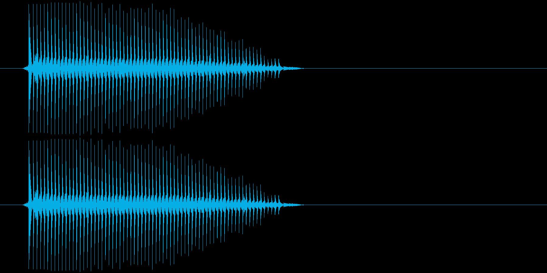 【アプリ/ボタン/チップチューン】の再生済みの波形