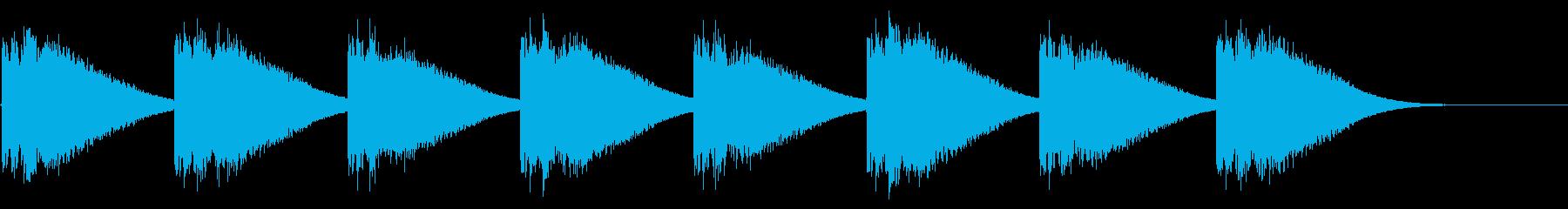 教会の鐘-1-3_delayの再生済みの波形
