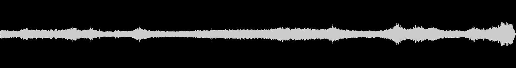 【生音】夏の日の通行音 - 2 「みー…の未再生の波形