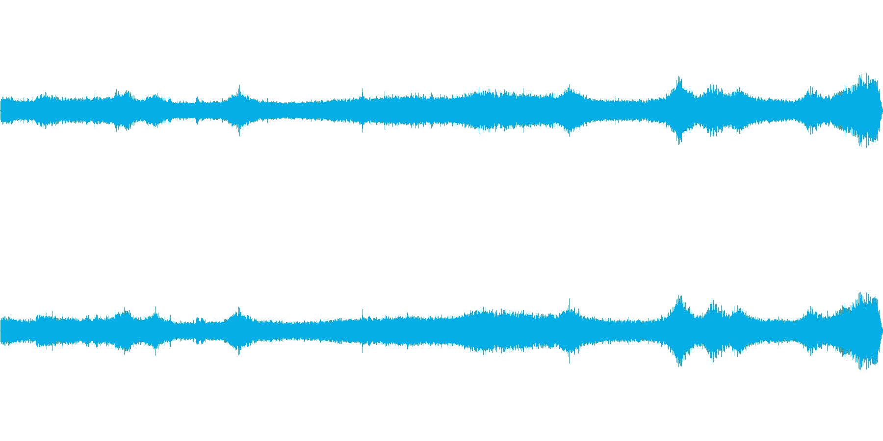 【生音】夏の日の通行音 - 2 「みー…の再生済みの波形