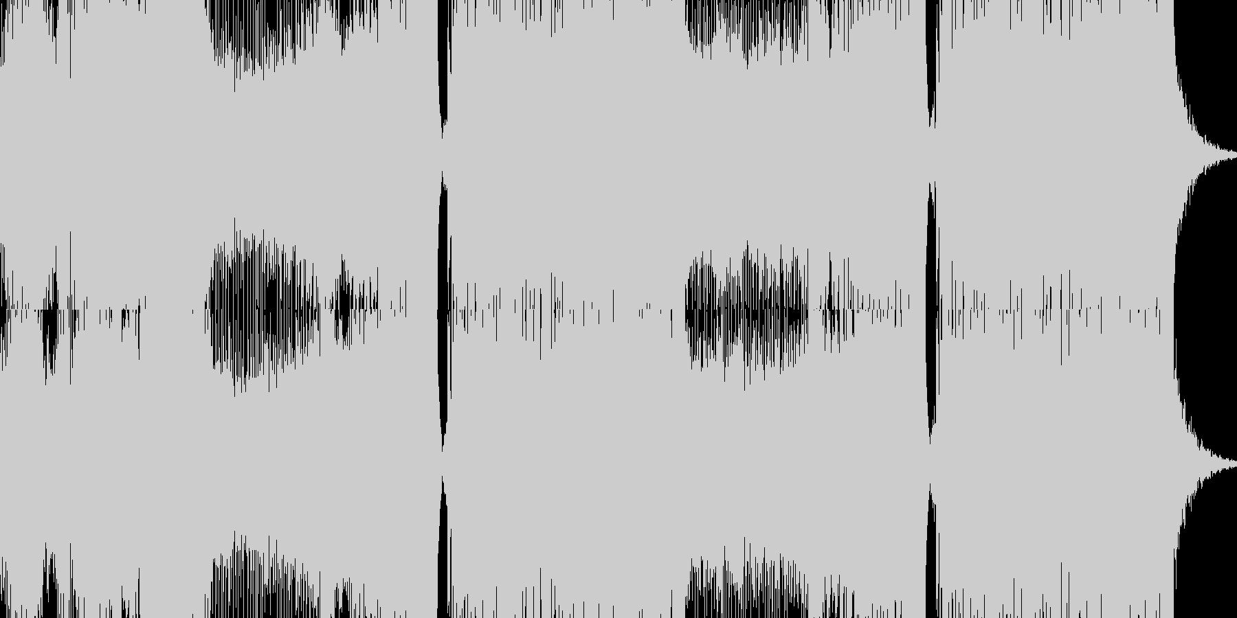 盛り上がる感じのEDMの未再生の波形