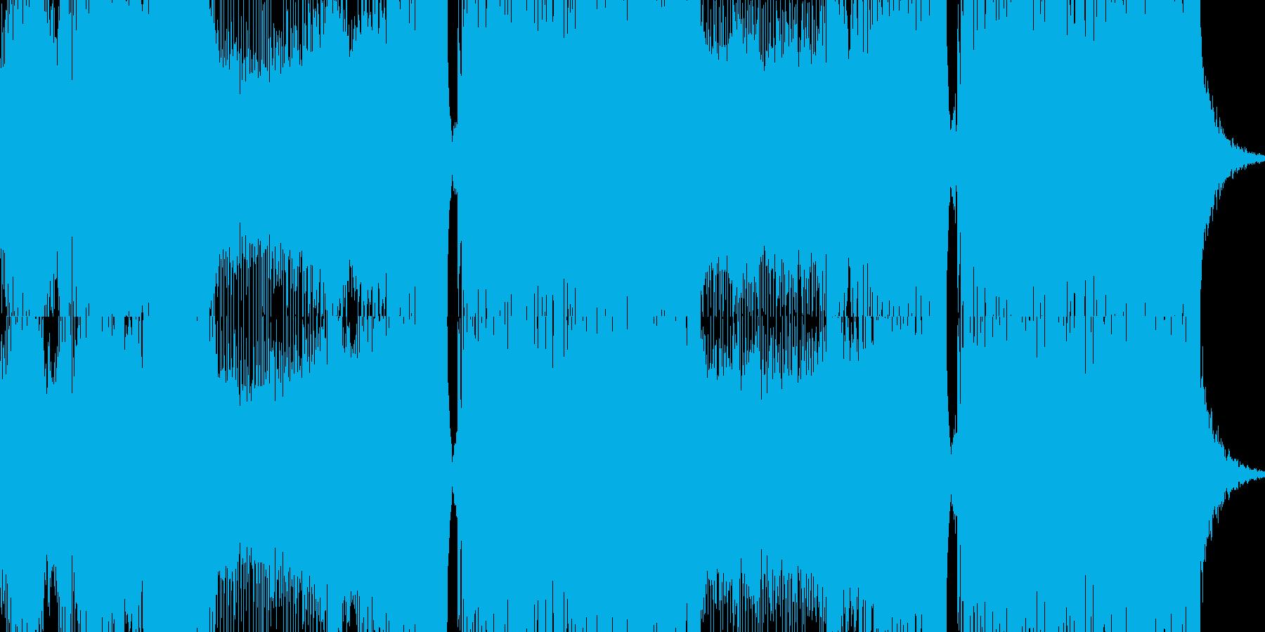 盛り上がる感じのEDMの再生済みの波形