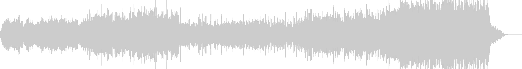 ボーカルパッドサウンドによるアンビエントの未再生の波形