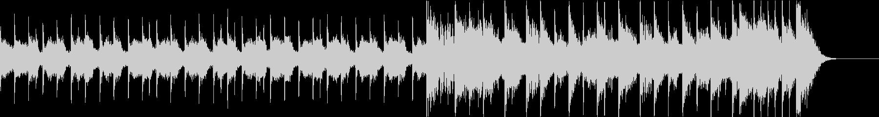 ロックとポップスを組み合わせたBGMの未再生の波形
