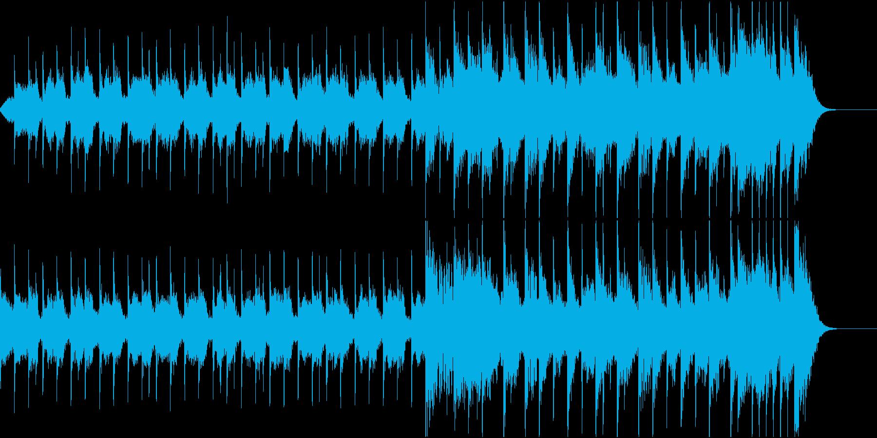 ロックとポップスを組み合わせたBGMの再生済みの波形