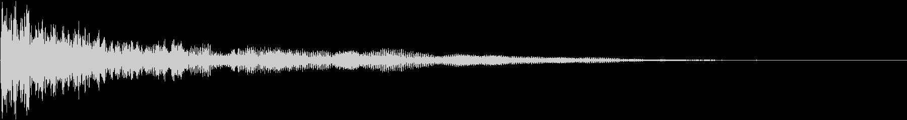 【衝撃音】ダーンッ!!_02の未再生の波形