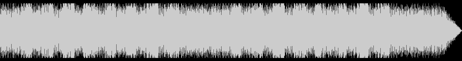 強いビートのテクノ音楽の未再生の波形