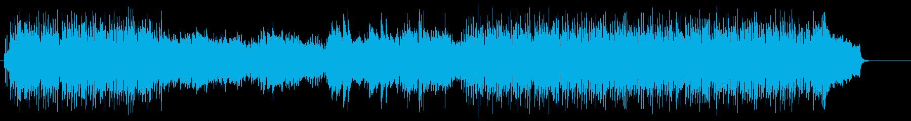 テーマ性を意識したタイトル向けのポップスの再生済みの波形
