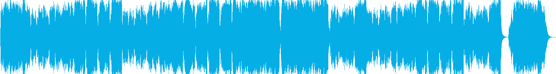 ほのぼのとした雰囲気の曲の再生済みの波形