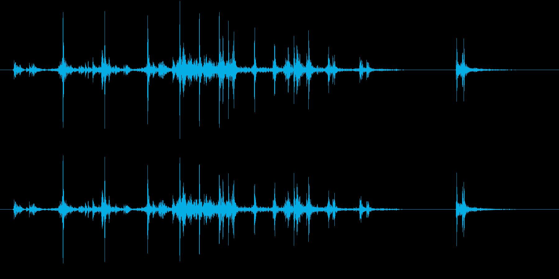 【生録音】カッターナイフの音 8の再生済みの波形