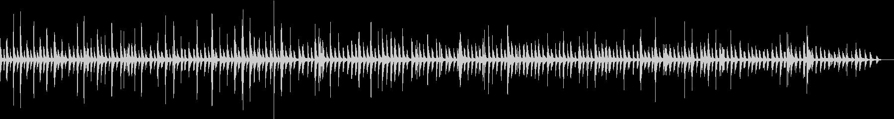 ヒーリング癒しのピアノソロBGMの未再生の波形