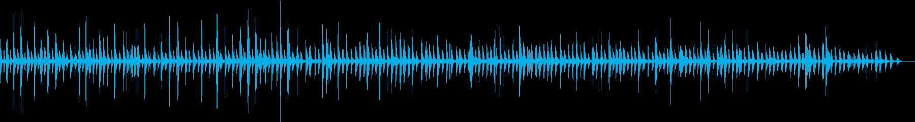 ヒーリング癒しのピアノソロBGMの再生済みの波形