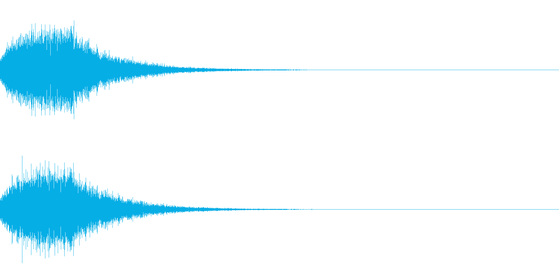 [IR]小規模ライブ空間の残響データ01の再生済みの波形