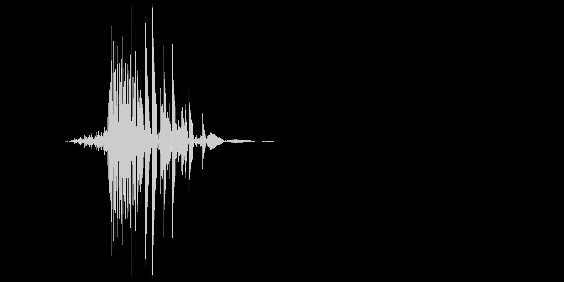 ゲーム(ファミコン風)ヒット音_034の未再生の波形
