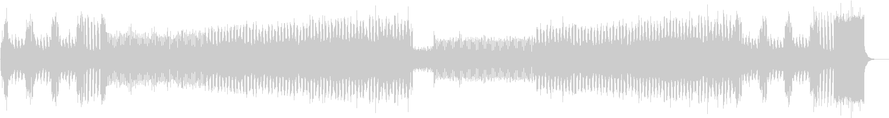 ピアノイントロ、キラキラしたJPOP風dの未再生の波形