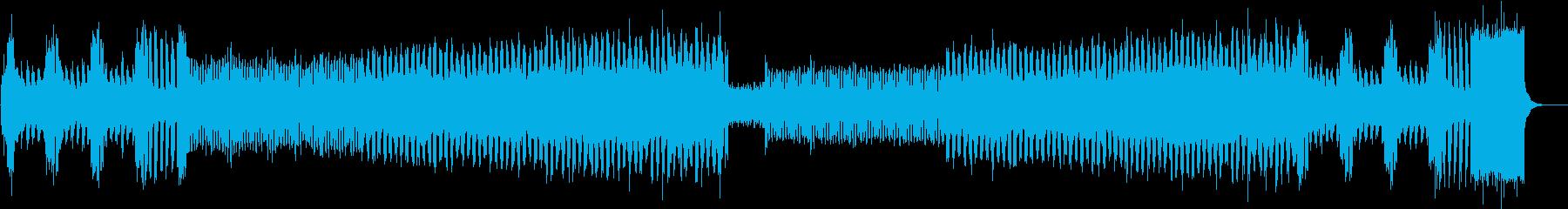 ピアノイントロ、キラキラしたJPOP風dの再生済みの波形