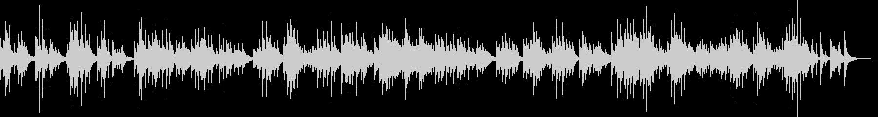 悲しいピアノバラード(孤独・憂い)の未再生の波形