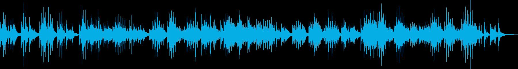 悲しいピアノバラード(孤独・憂い)の再生済みの波形