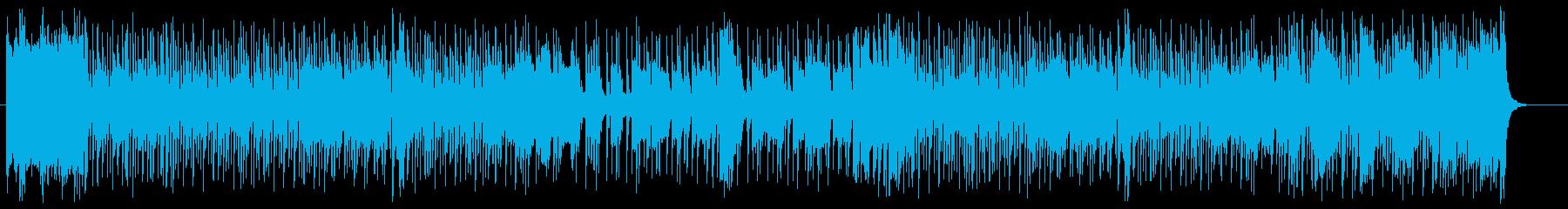軽快で元気で明るいシンセポップスの再生済みの波形