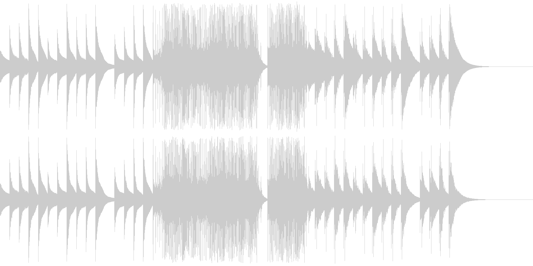 アイキャッチ オルゴールの音ですの未再生の波形