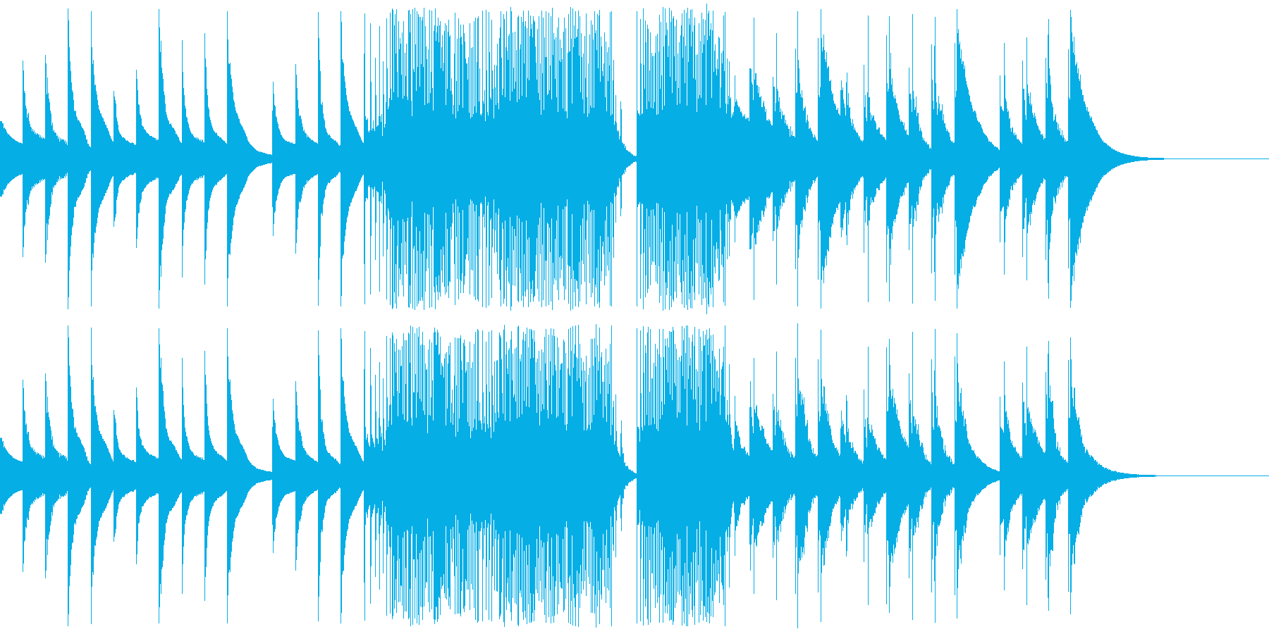 アイキャッチ オルゴールの音ですの再生済みの波形