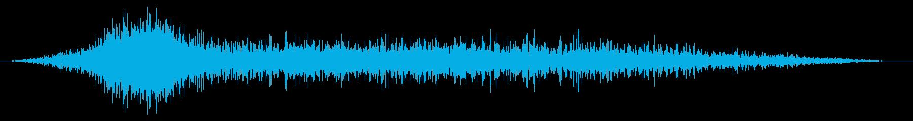 トランジション ガラガラヒット01の再生済みの波形