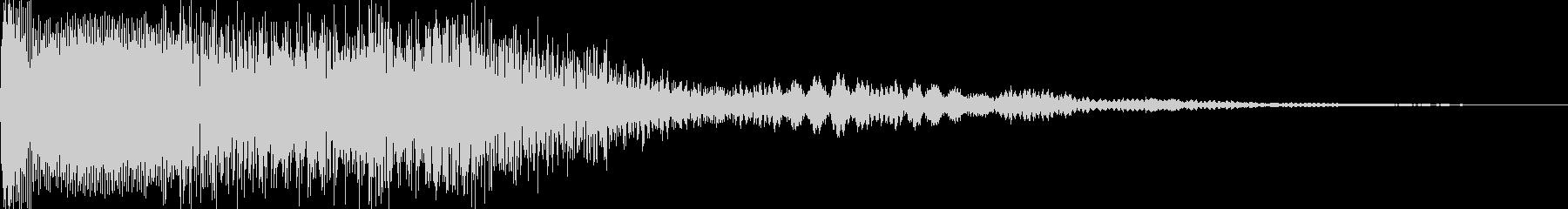 キャンセル音 ピロロンの未再生の波形