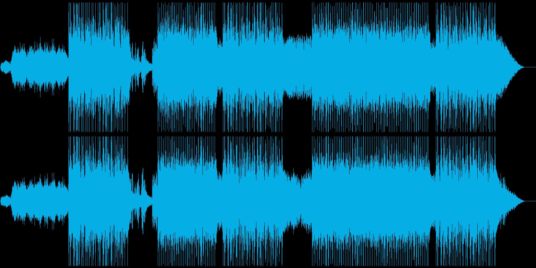 雰囲気のある幻想的なBGMの再生済みの波形