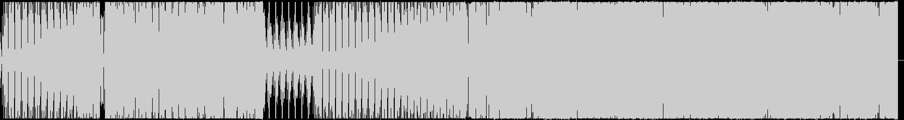 【BGM】ベースが激しいテクノ曲の未再生の波形