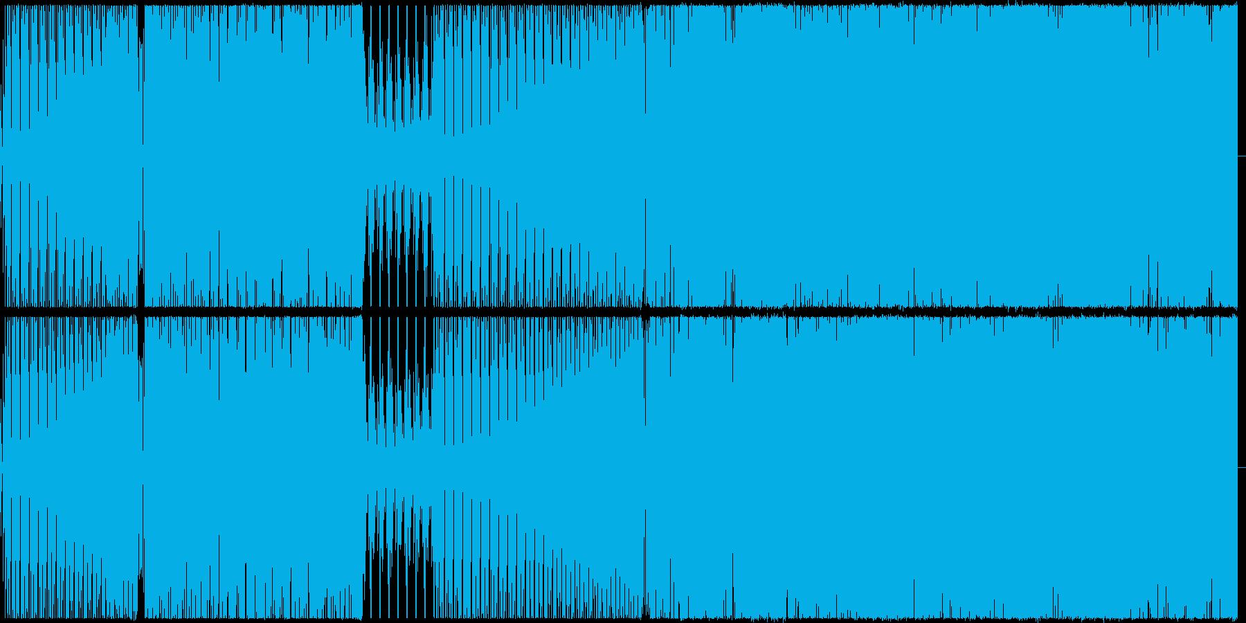 【BGM】ベースが激しいテクノ曲の再生済みの波形