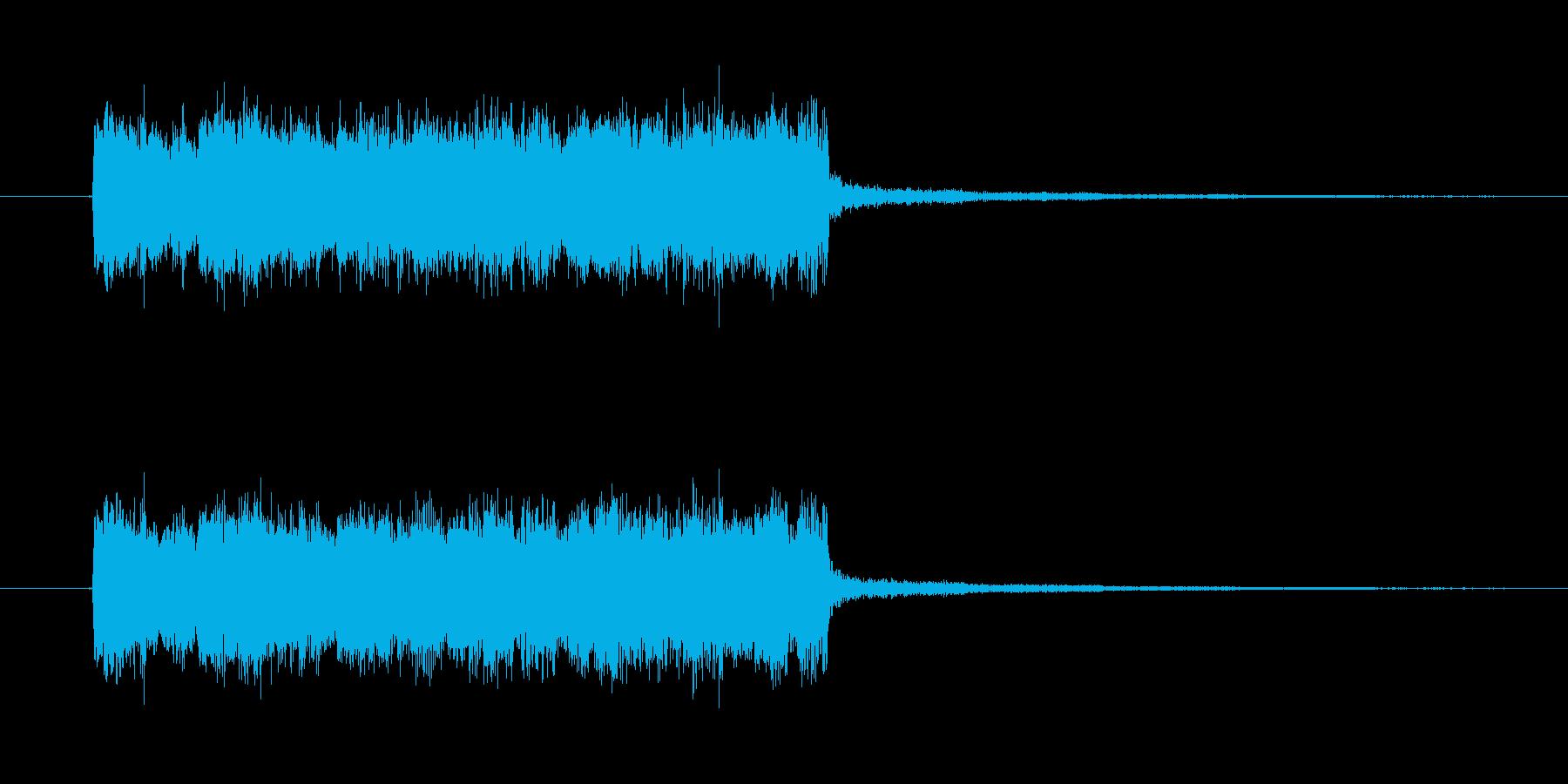 ギターピックスクラッチピキピキ音 氷系…の再生済みの波形