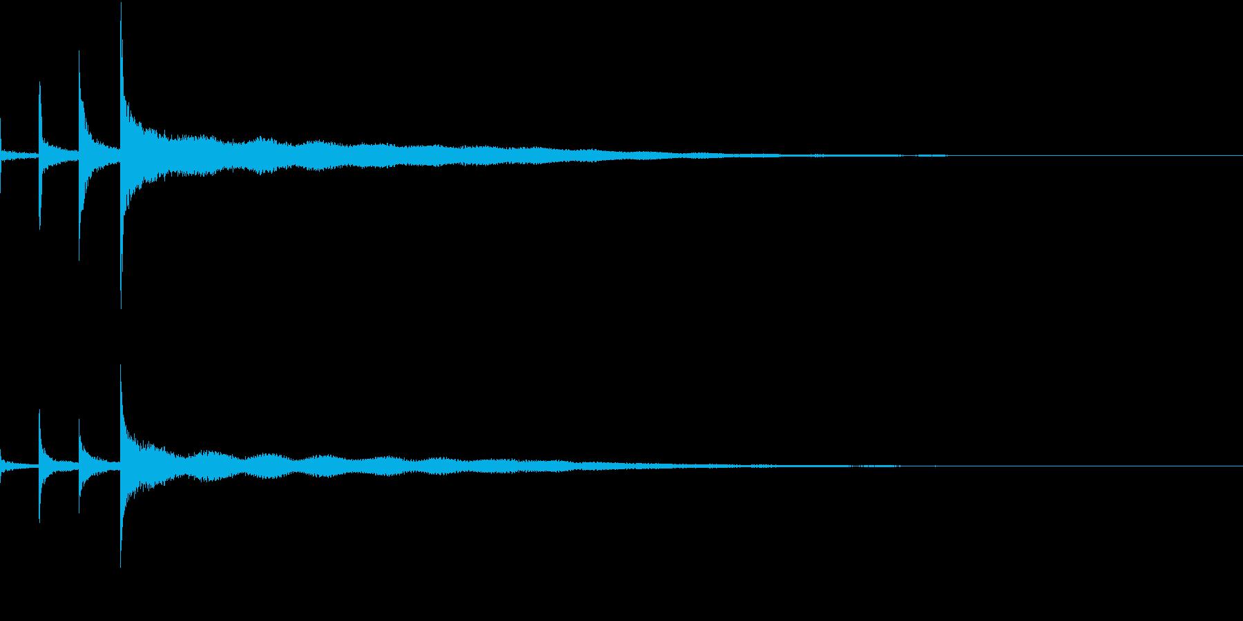 「チンカーンコーン」シンギングボウルの音の再生済みの波形